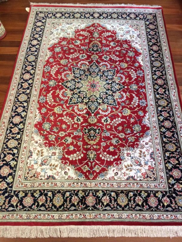 Fine Persian Pure Silk Qum  rug